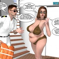 Hot red space ship assistant drills hard her captain's asshole with her stiff rod in cool 3d xxx toon