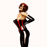 Short-haired brunette tranny swallows hungrily her blonde t-lover's donkey in 3d porn toon