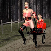 Very hot swarthy blonde t-girl drilling hard her lover's butthole in dirty 3d porn toon